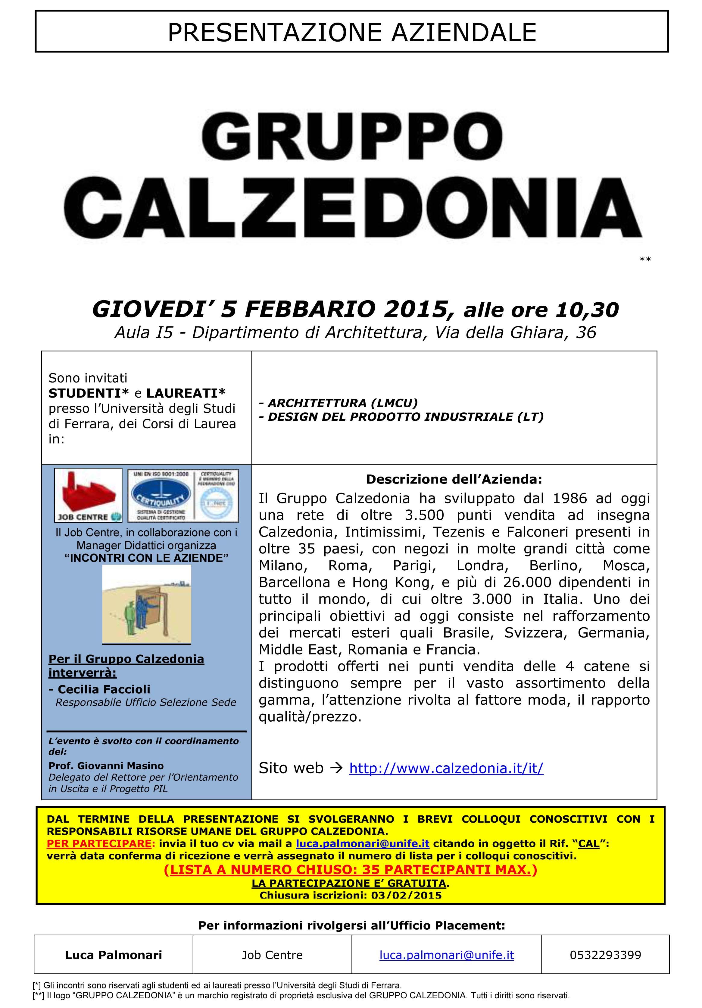 rilasciare informazioni su estetica di lusso selezione straordinaria Presentazione Aziendale Gruppo Calzedonia rivolta agli ...